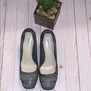 Croft & Barrow  Blue Textile 9 1/2 Heels